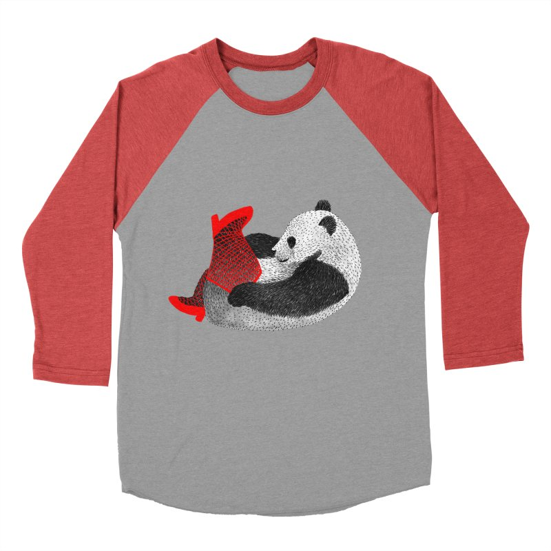 Party Panda Women's Baseball Triblend T-Shirt by Martina Scott's Shop