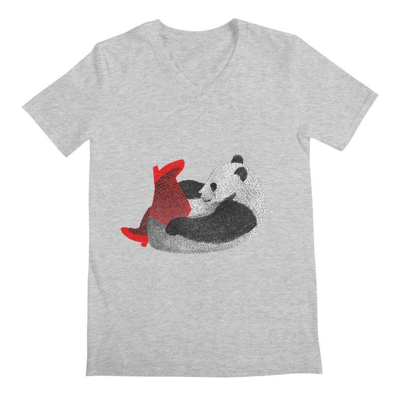 Party Panda Men's V-Neck by Martina Scott's Shop