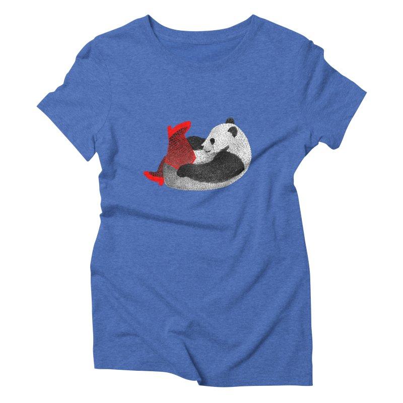 Party Panda Women's Triblend T-Shirt by Martina Scott's Shop