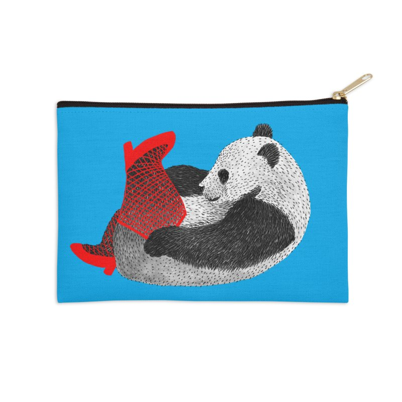 Party Panda Accessories Zip Pouch by Martina Scott's Shop