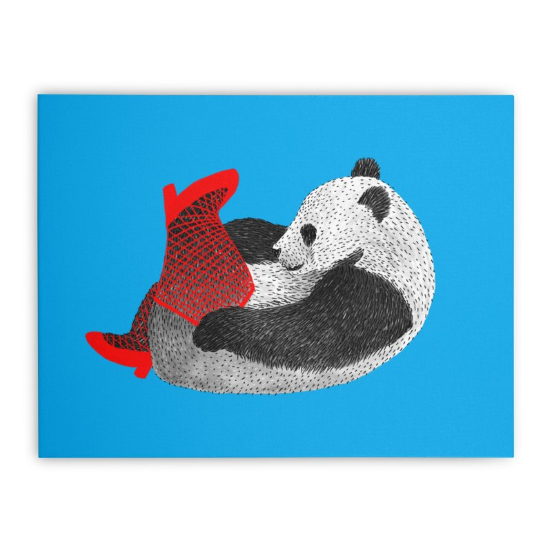 Party Panda Home Stretched Canvas by Martina Scott's Shop