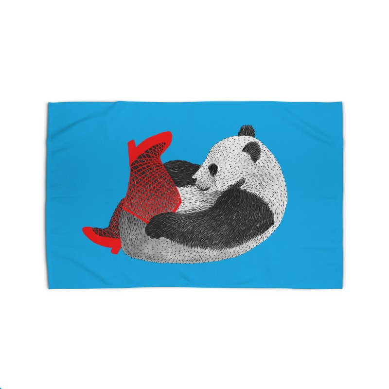 Party Panda Home Rug by Martina Scott's Shop