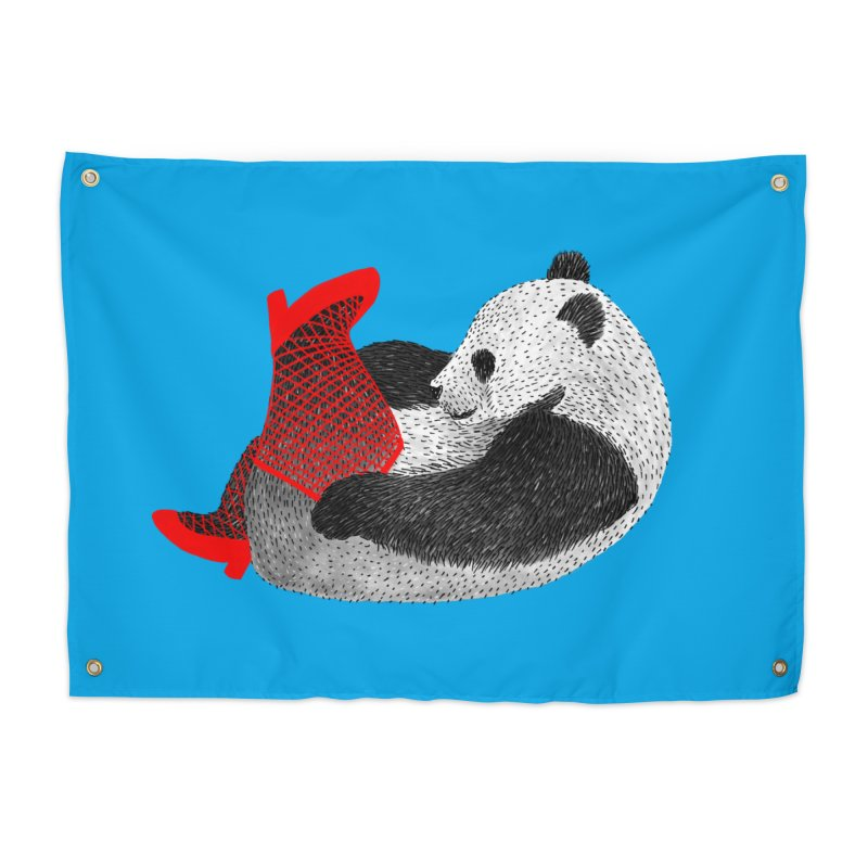 Party Panda Home Tapestry by Martina Scott's Shop