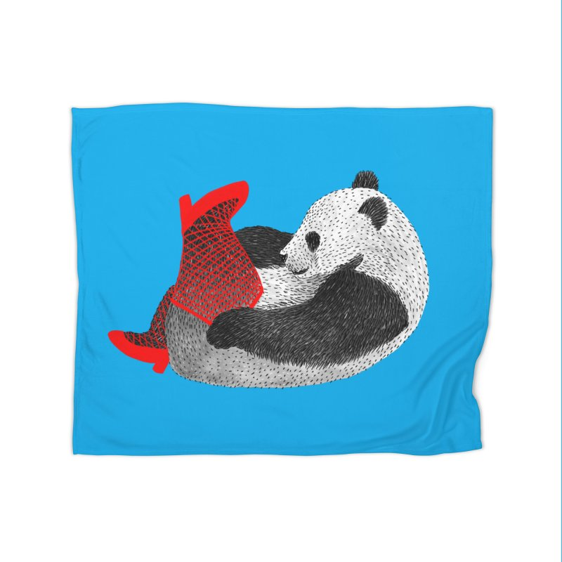 Party Panda Home Blanket by Martina Scott's Shop
