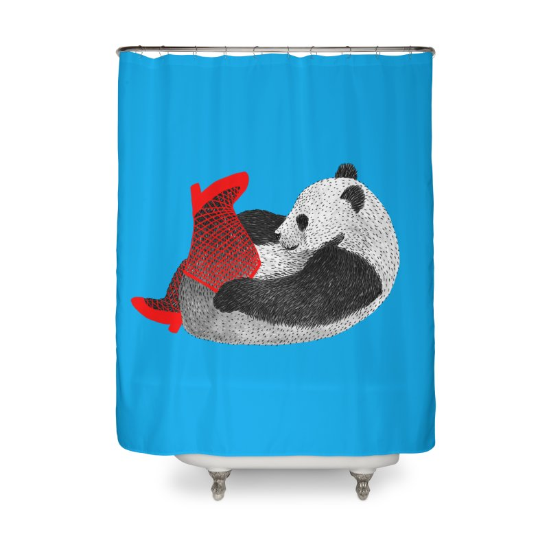 Party Panda Home Shower Curtain by Martina Scott's Shop