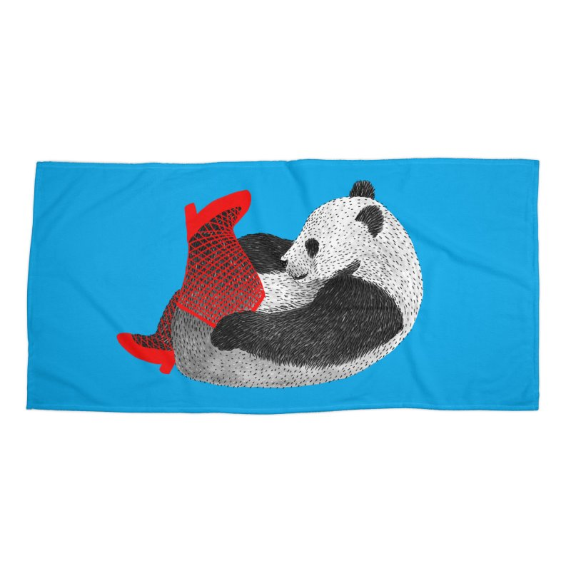 Party Panda Accessories Beach Towel by Martina Scott's Shop