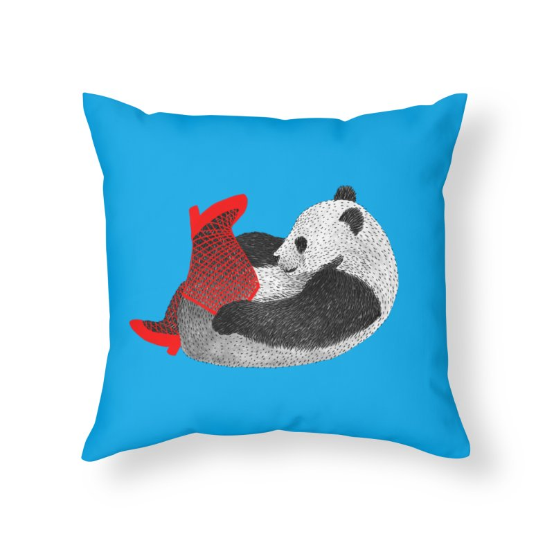 Party Panda Home Throw Pillow by Martina Scott's Shop