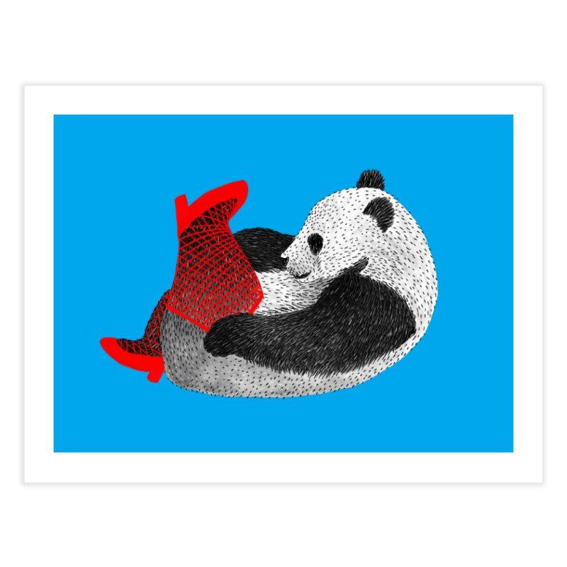 Party Panda Home Fine Art Print by Martina Scott's Shop