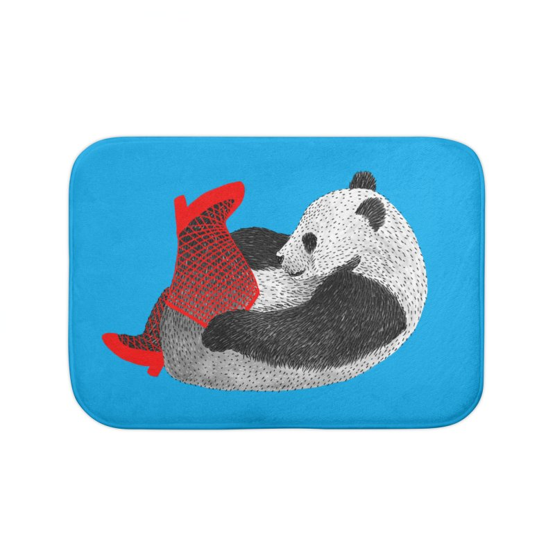 Party Panda Home Bath Mat by Martina Scott's Shop
