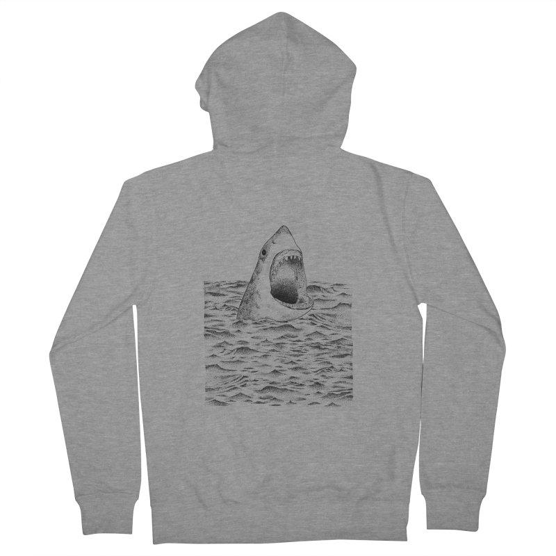 SHARK Men's Zip-Up Hoody by Martina Scott's Shop