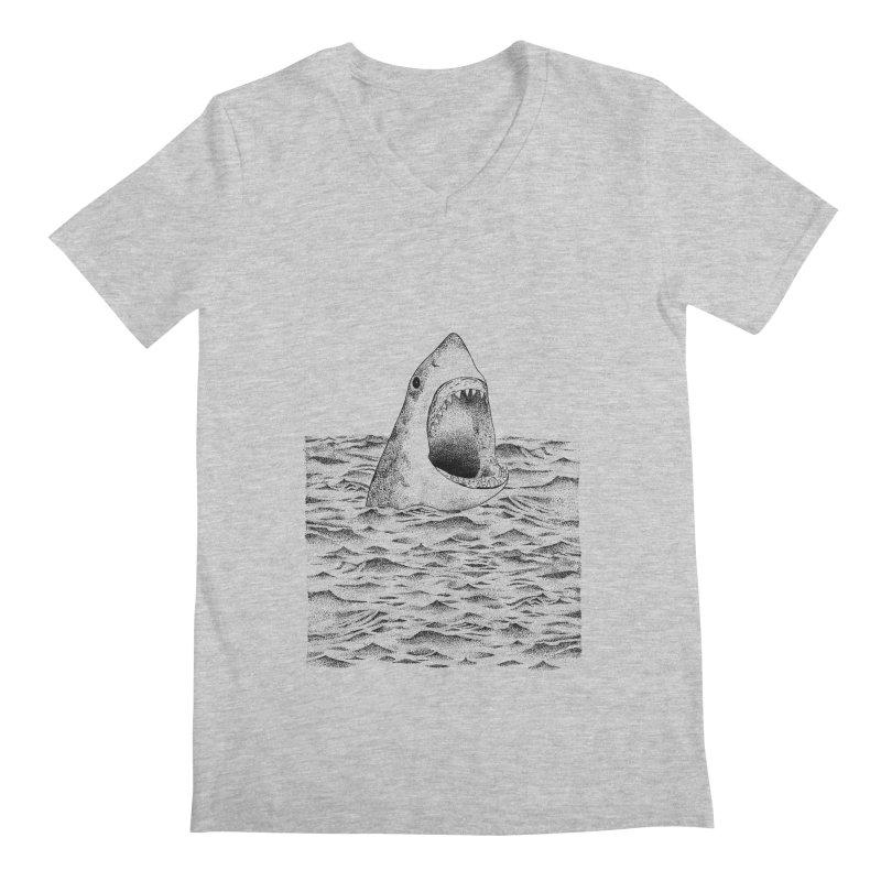 SHARK Men's V-Neck by Martina Scott's Shop
