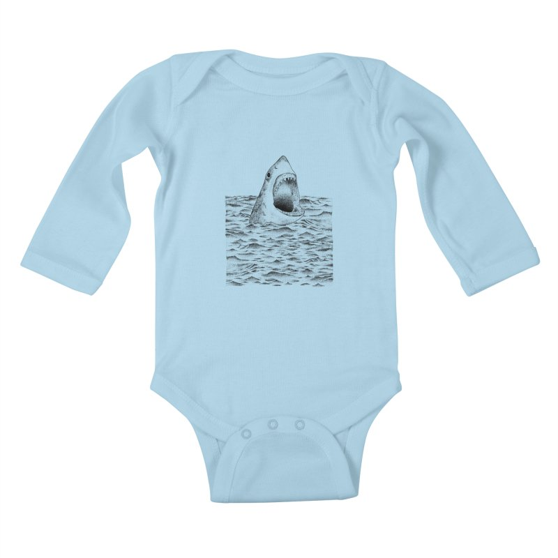 SHARK Kids Baby Longsleeve Bodysuit by Martina Scott's Shop