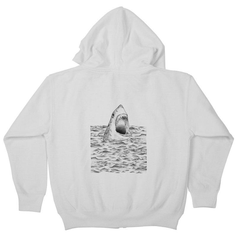 SHARK Kids Zip-Up Hoody by Martina Scott's Shop