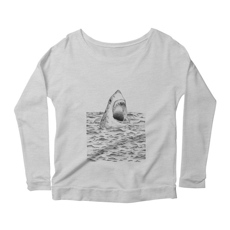 SHARK Women's Longsleeve Scoopneck  by Martina Scott's Shop
