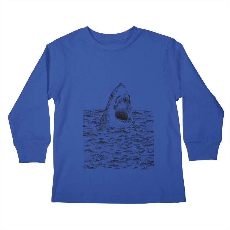 SHARK Kids Longsleeve T-Shirt by Martina Scott's Shop