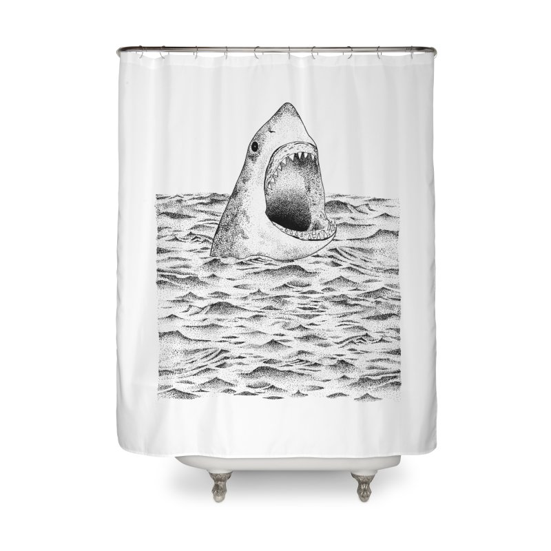 SHARK Home Shower Curtain by Martina Scott's Shop