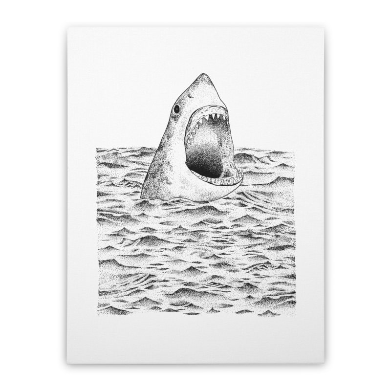 SHARK Home Stretched Canvas by Martina Scott's Shop