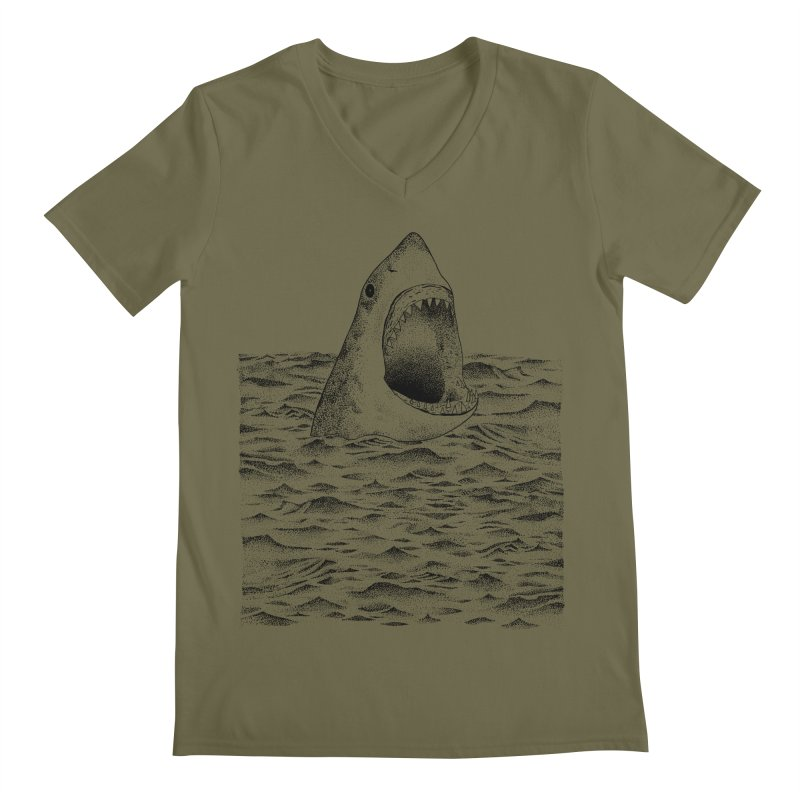 SHARK Men's V-Neck by Martina Scott's Shop