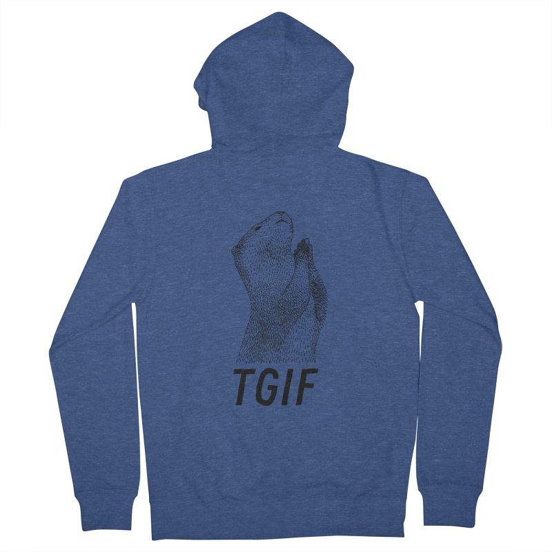 TGIF Men's Zip-Up Hoody by Martina Scott's Shop