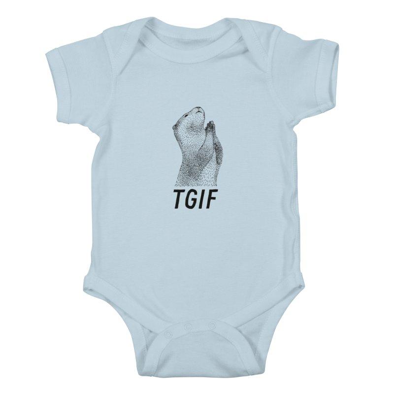 TGIF Kids Baby Bodysuit by Martina Scott's Shop