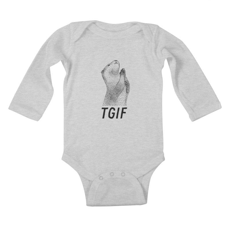 TGIF Kids Baby Longsleeve Bodysuit by Martina Scott's Shop