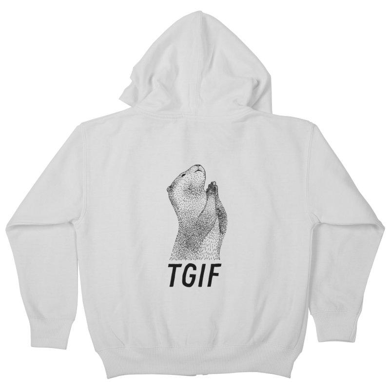 TGIF Kids Zip-Up Hoody by Martina Scott's Shop