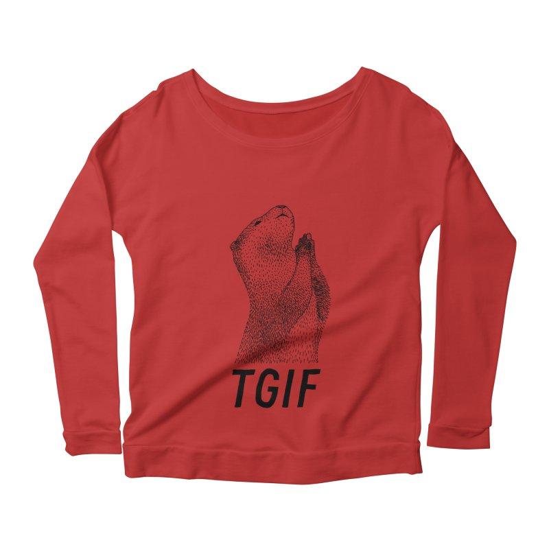 TGIF Women's Longsleeve Scoopneck  by Martina Scott's Shop