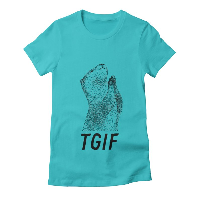 TGIF Women's Fitted T-Shirt by Martina Scott's Shop