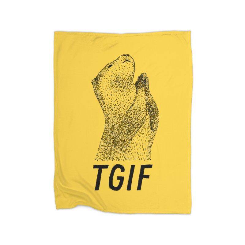 TGIF Home Blanket by Martina Scott's Shop