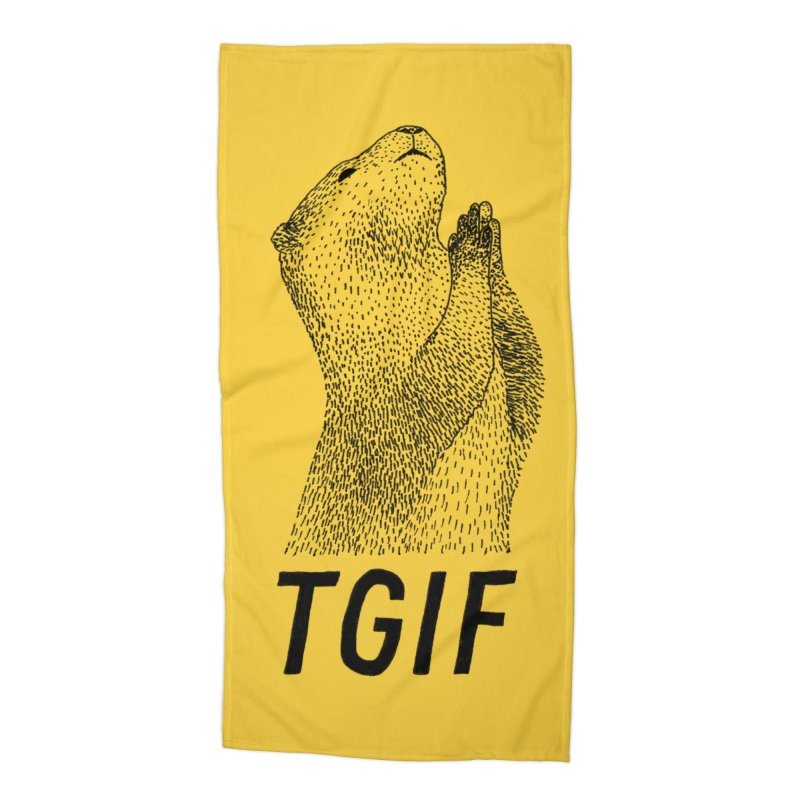 TGIF Accessories Beach Towel by Martina Scott's Shop