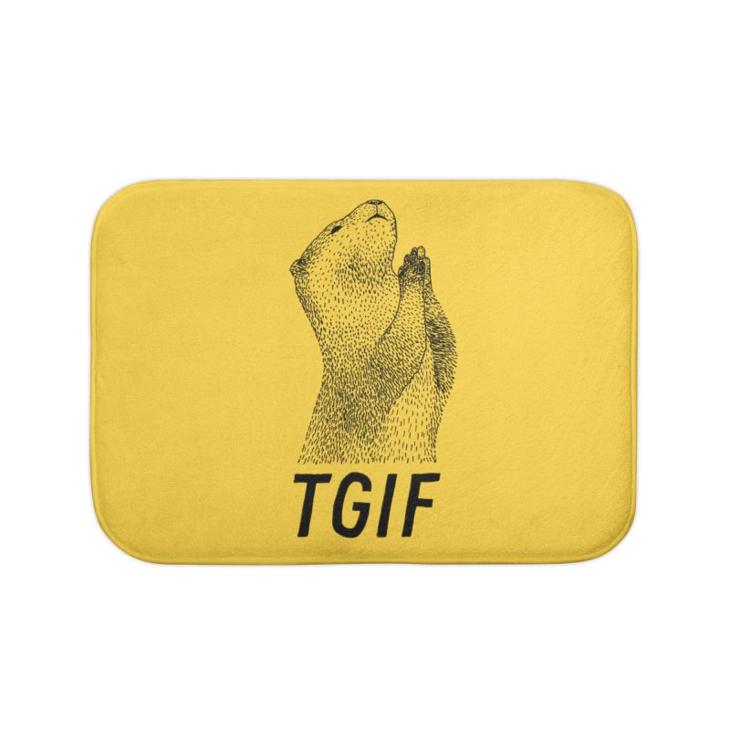 TGIF Home Bath Mat by Martina Scott's Shop