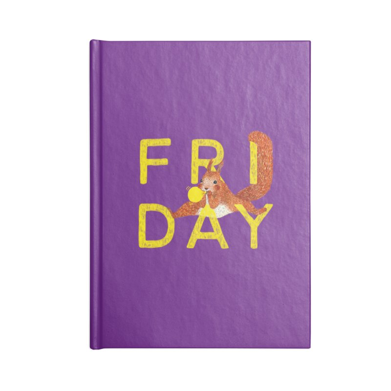Friday Squirrel Accessories Notebook by Martina Scott's Shop