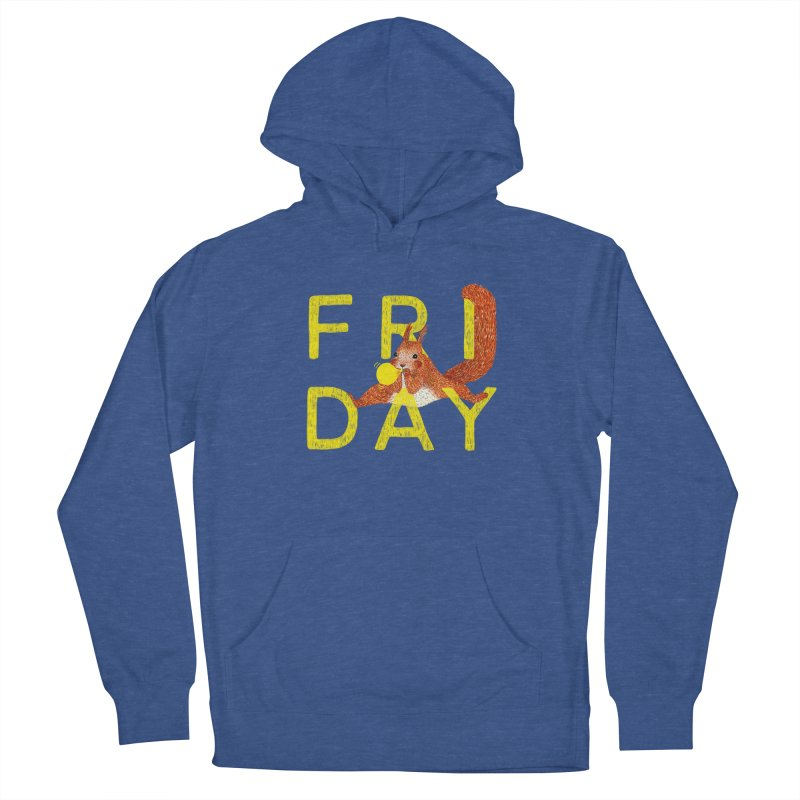 Friday Squirrel Men's Pullover Hoody by Martina Scott's Shop