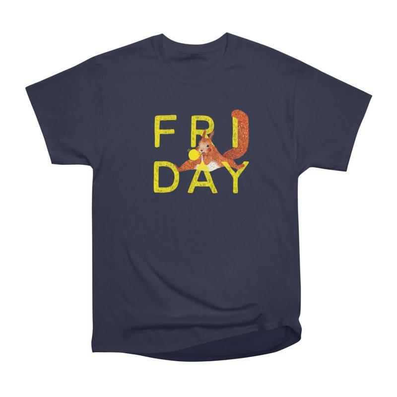 Friday Squirrel Men's Heavyweight T-Shirt by Martina Scott's Shop