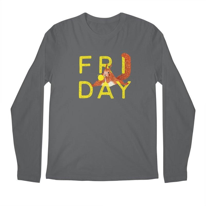 Friday Squirrel Men's Longsleeve T-Shirt by Martina Scott's Shop