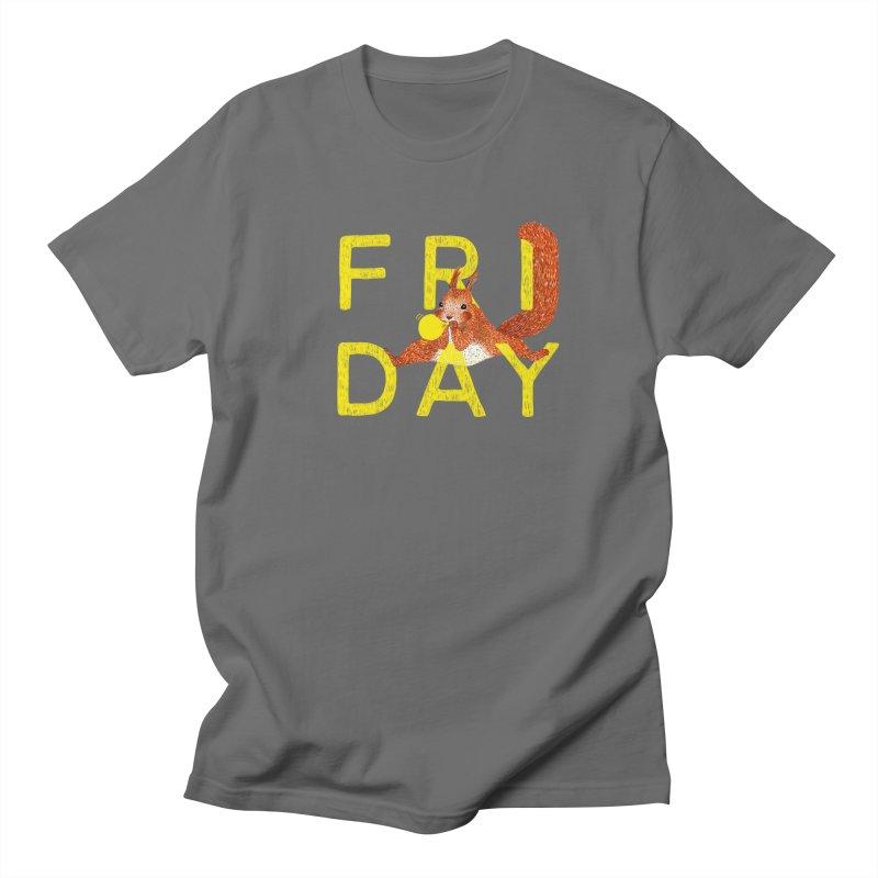 Friday Squirrel Men's T-Shirt by Martina Scott's Shop