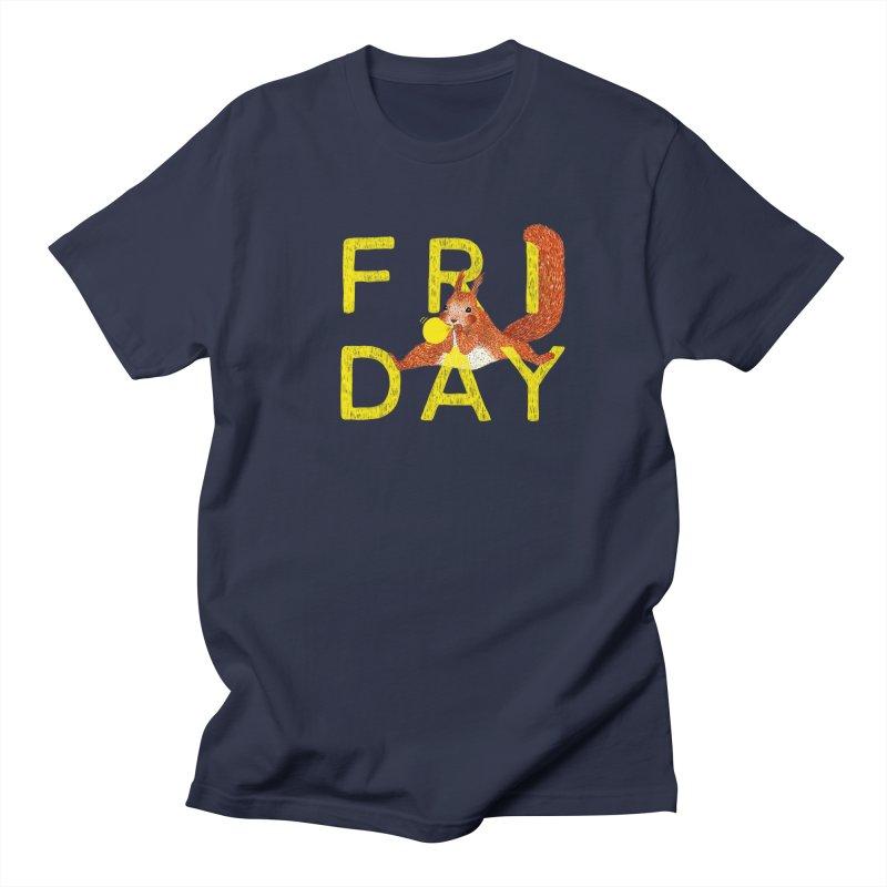 Friday Squirrel Women's Regular Unisex T-Shirt by Martina Scott's Shop
