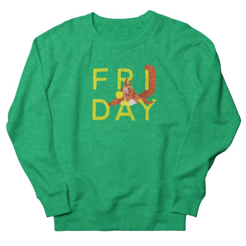 Friday Squirrel Men's French Terry Sweatshirt by Martina Scott's Shop