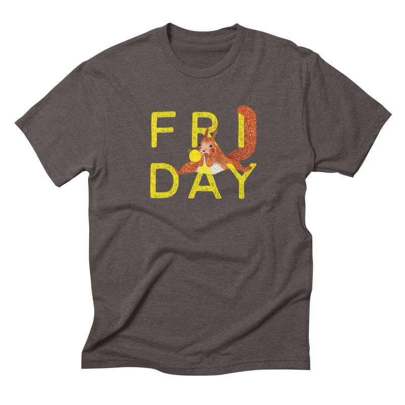 Friday Squirrel Men's Triblend T-Shirt by Martina Scott's Shop