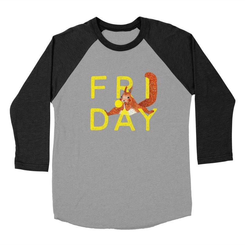 Friday Squirrel Women's Baseball Triblend Longsleeve T-Shirt by Martina Scott's Shop