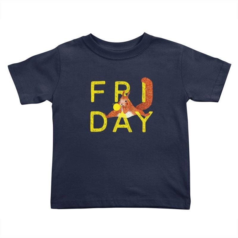 Friday Squirrel Kids Toddler T-Shirt by Martina Scott's Shop