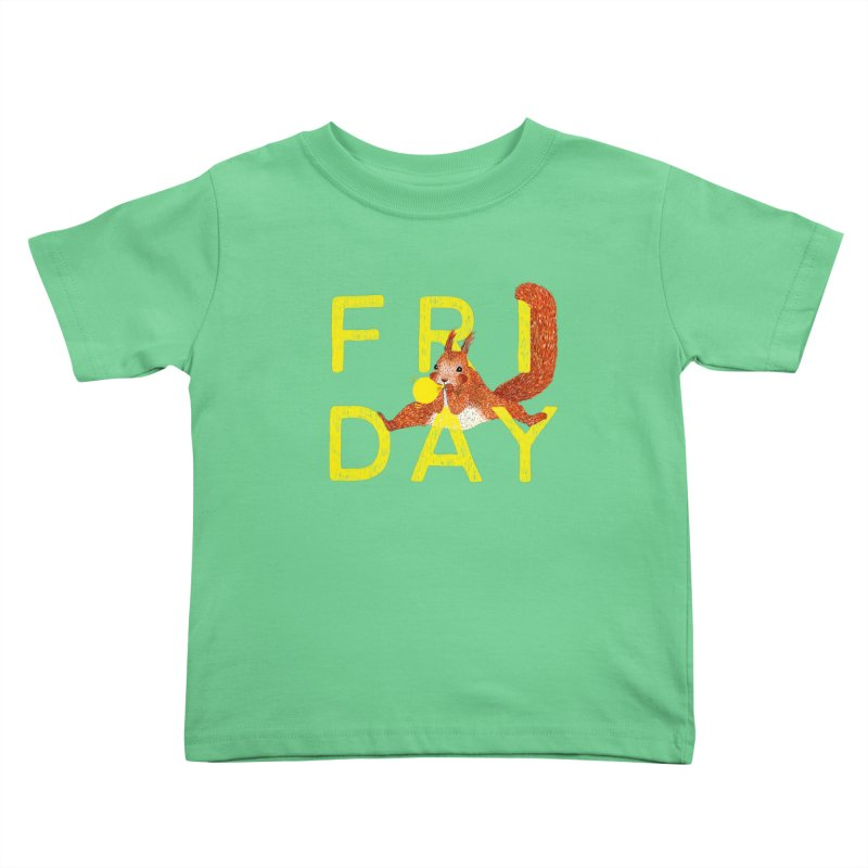 Friday Squirrel Kids Toddler T-Shirt by Martina Scott's Shop