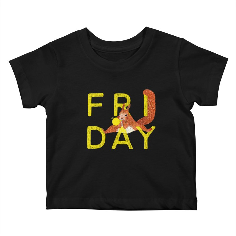 Friday Squirrel Kids Baby T-Shirt by Martina Scott's Shop