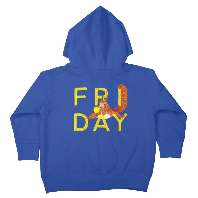 Friday Squirrel Kids Toddler Zip-Up Hoody by Martina Scott's Shop