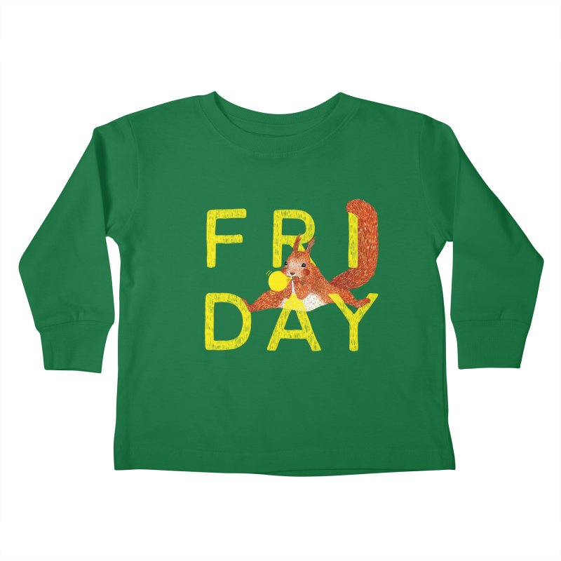 Friday Squirrel Kids Toddler Longsleeve T-Shirt by Martina Scott's Shop