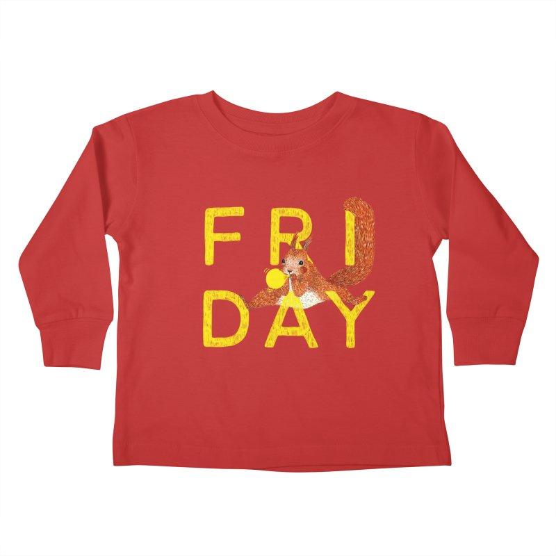 Friday Squirrel Kids Toddler Longsleeve T-Shirt by Martina Scott's Shop