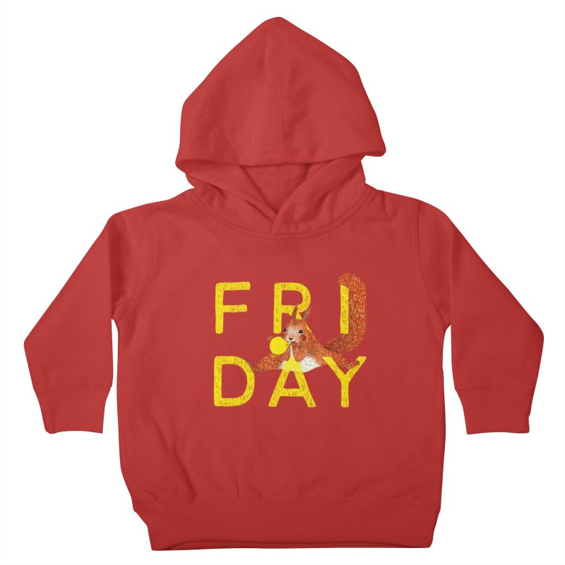 Friday Squirrel Kids Toddler Pullover Hoody by Martina Scott's Shop