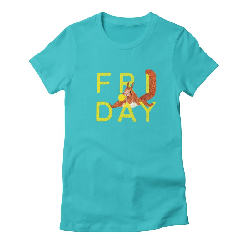 Friday Squirrel Women's Fitted T-Shirt by Martina Scott's Shop
