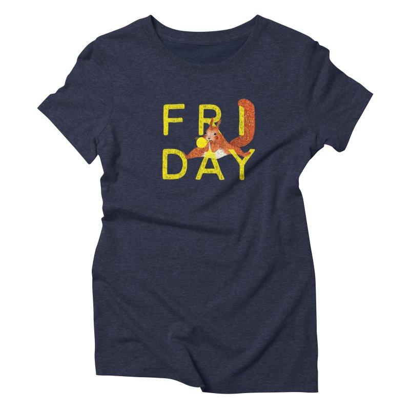 Friday Squirrel Women's Triblend T-Shirt by Martina Scott's Shop