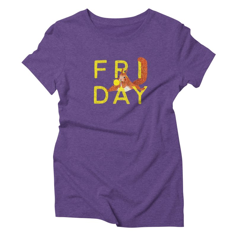 Friday Squirrel Women's Triblend T-Shirt by Martina Scott's Shop